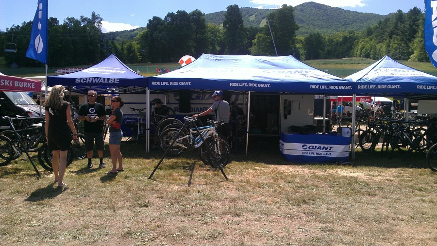 Our friends at Giant stole the show.  Between their demo fleet of Glory's right when you walked through the door, this triple tent of trail bikes, and Jeff Lenosky's trial riding, they had a truly impressive showing!