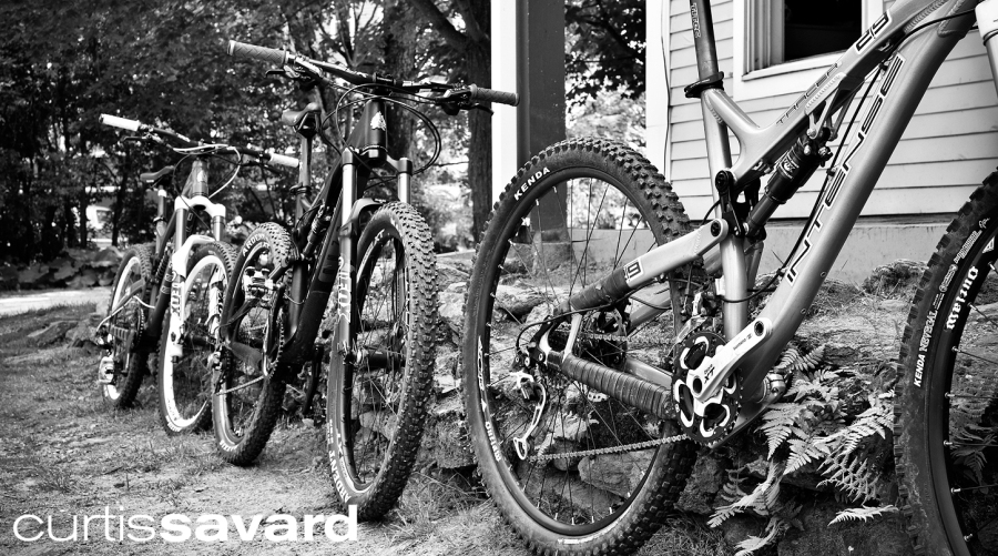A few of our Intense demo bikes ready to ride!