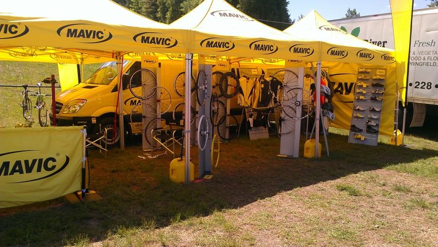 Mavic had all of their latest gear on display.  Wheels anyone?
