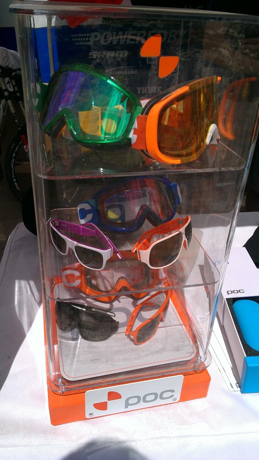 Poc showed us some of their latest eyewear and protective gear, lookin' good!