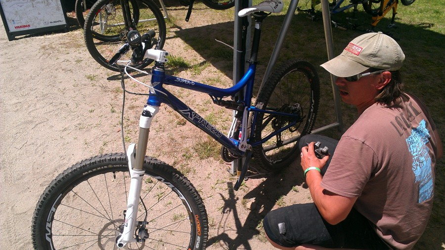 We got to try some Xprezo bikes!  I rode the Super D, shown here, which was surprisingly nimble and quick