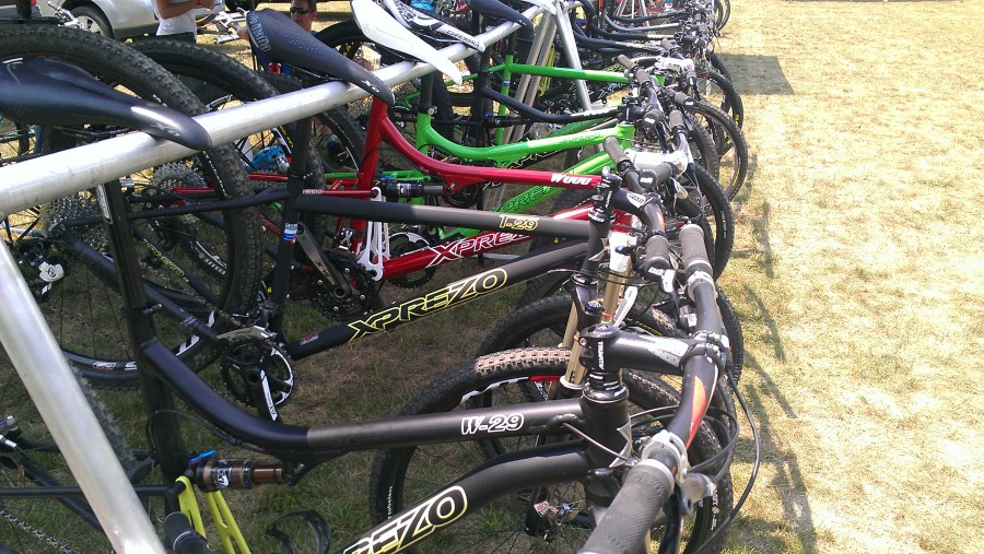 Xprezo had a colorful display of demo bikes