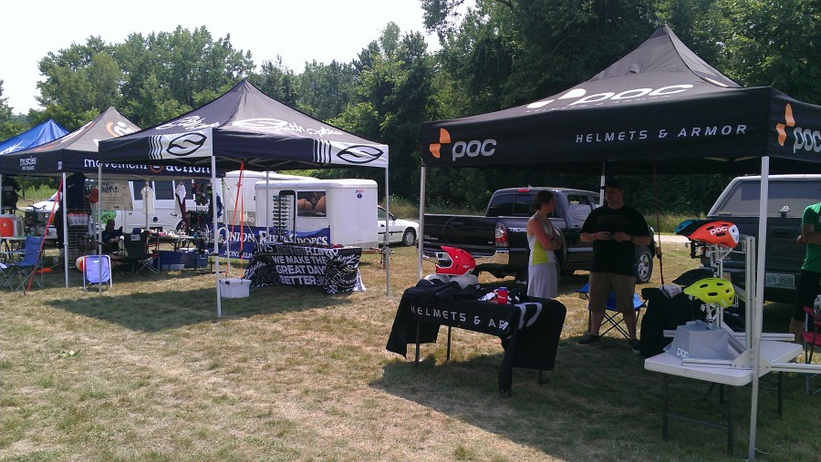 Our friends from Poc and Smith - I spy a Scott, Smith, and Poc rep all under one tent.  What's going on here?
