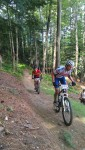 It was very interesting watching the different choices for gearing, some riders were really struggling up this climb!