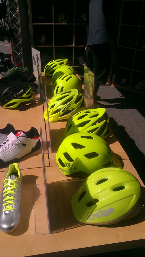 Giro had a selection of their new Highlight Yellow helmets at the Dirt Demo!  Looking great!