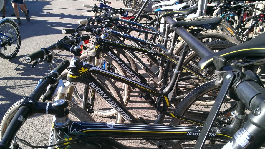 Rocky Mountain had almost their entire line of bikes available for demo.  We took full advantage!