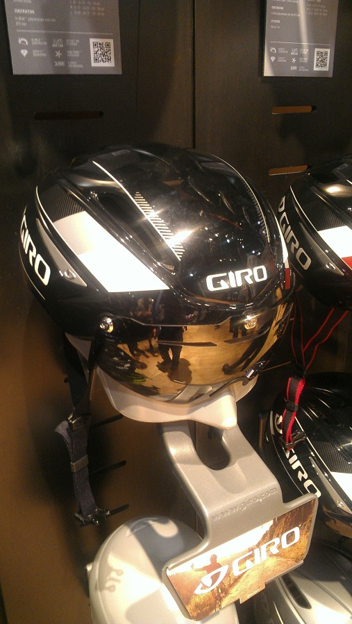 A whole new take on aerodynamic helmets combining a smooth front profile with two different lower tails.